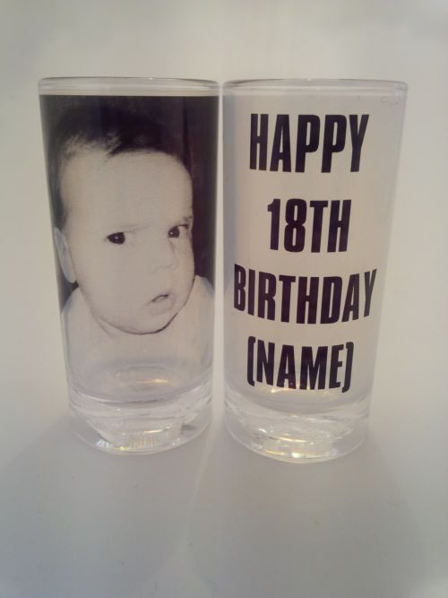 18th birthday shot glasses